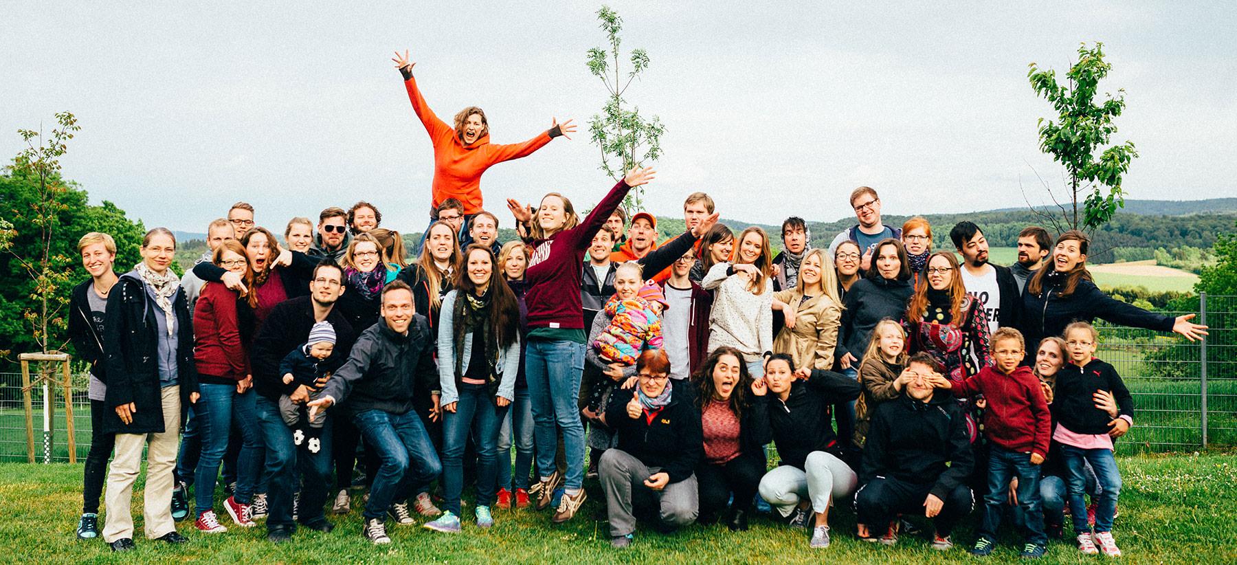 Gruppenfoto von der Gemeindefreizeit 2016