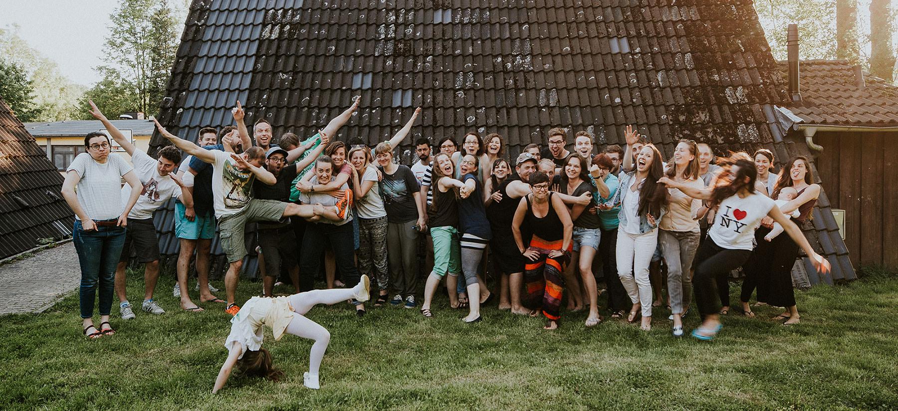 Gruppenfoto von der Subzone-Gemeindefreizeit 2017